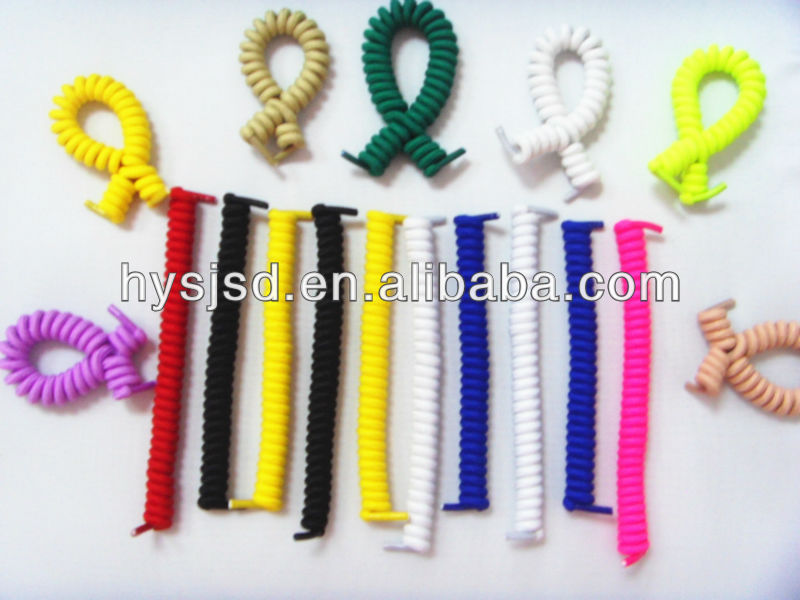 Twister Curly Elastic Laces, Coiler Elastic Shoelaces, Spiral Elastic Shoelaces