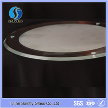 round clear float glass cover for LED lights(glass lamp shade)