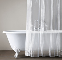 PVC Clear Vinyl Shower Curtain Bathroom Made in China