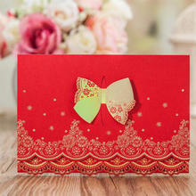 Fancy paper wedding invitation cards