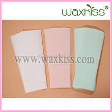 Guangzhou Factory! depilatory hair removal wax strips/soft and smooth wholesale wax strips/wax strips machine