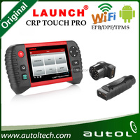 Newest!! Launch crp touch pro code reader for electronic parking brake & steering angle & oil lights &DPF & TPMS runs on Androi