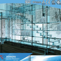 soundproof tempered office partition glass wall
