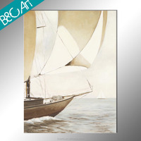 New design classical canvas oil painting boats