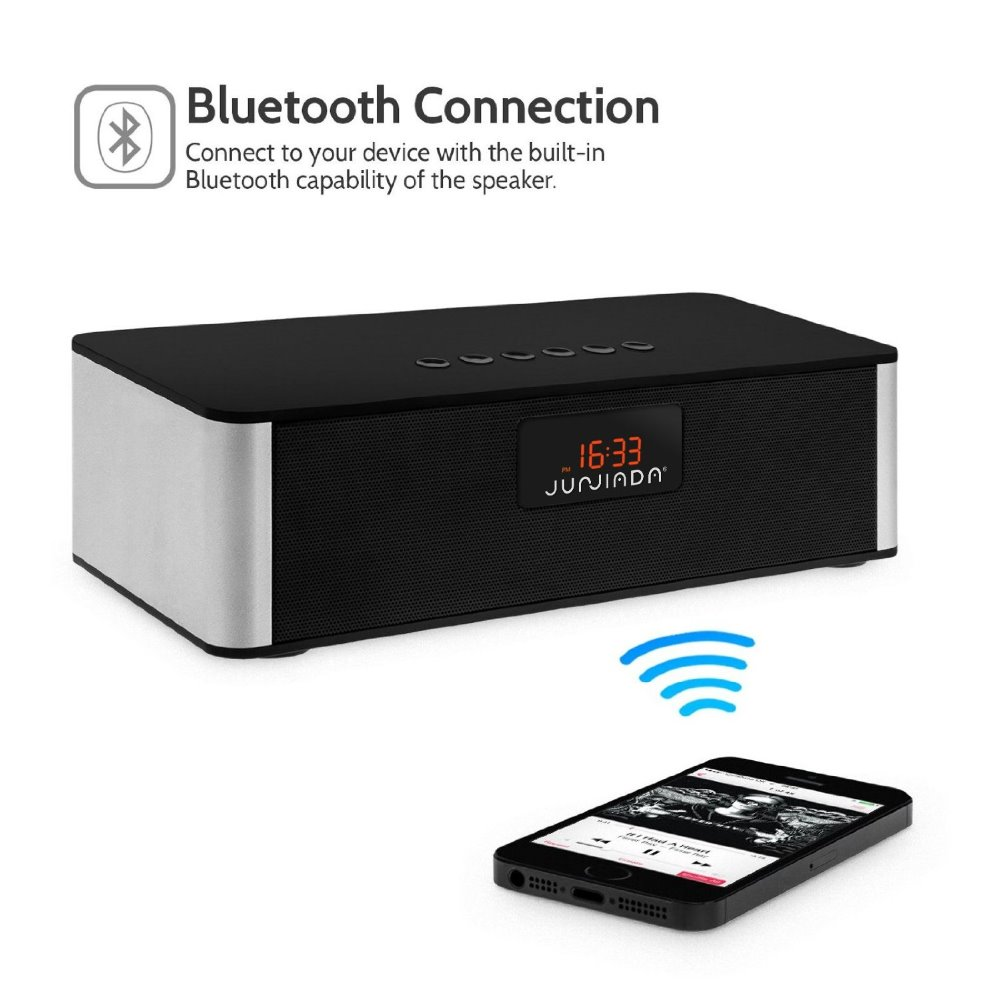 Portable Wireless Bluetooth Speaker Hifi with Alarm clock and radio
