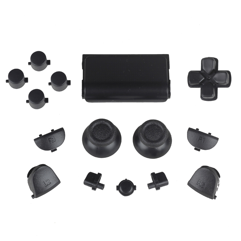 Black Solid Full Set Buttons Replacement For PS4 Wireless <strong>Controller</strong> For Playstation 4