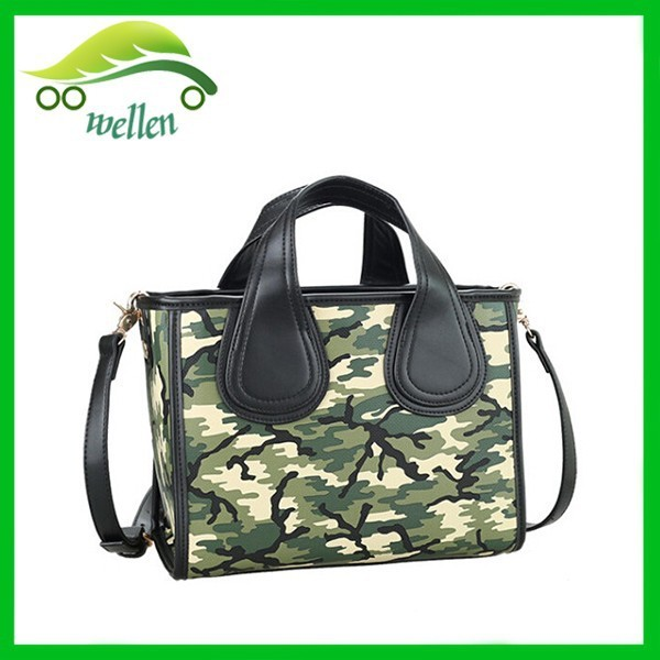 Euro fashion women handbags ployester shoulder bag camouflage tote bag