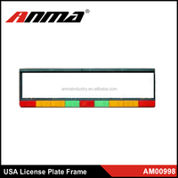 new design metal stainless steel car license plate frames factory