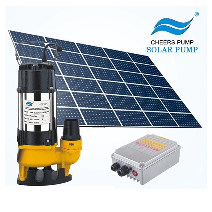 solar submersible sewage water 1 inch pump