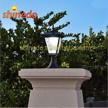 Standing High Power Super Bright Aluminum Gate Solar Pillar Led Post Light