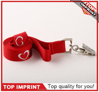 Custom silk screen printing polyester lanyard with card