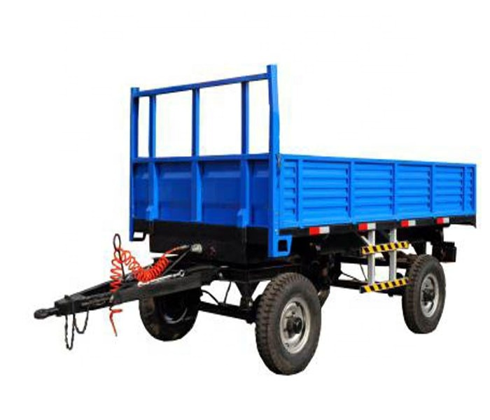 Made in China 4 tons 4-wheel 2-<strong>axle</strong> farm tractor trailer factory price