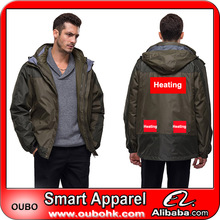 High Quality Ski Jacket water proof jacket with battery electric heating system battery heated clothing warm OUBOHK