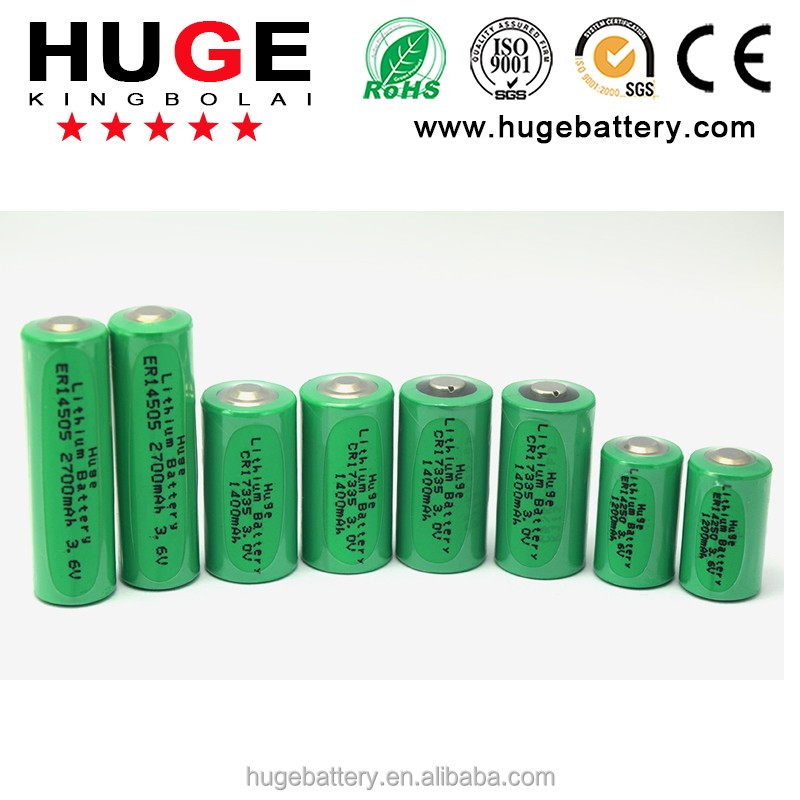 3.6V lithium thionyl chloride LiSoCl2 ER14505 AA Battery