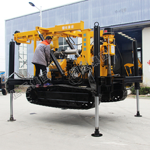 Crawler-type mining protecting drilling rig ,mountainous depth water well drilling machine used on tracked