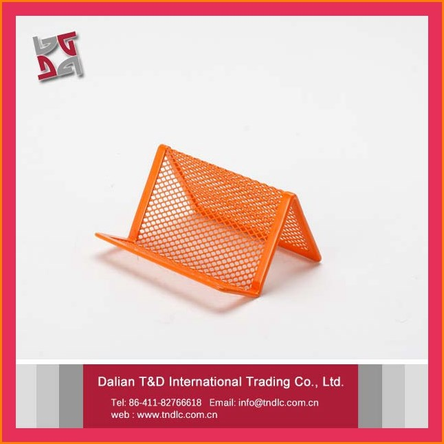 metal mesh desktop name card holder