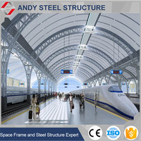 High Quality Steel Space Frame Grid Structure Railway Station Roof