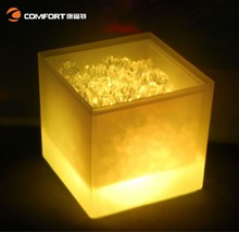 water cooler plastic bucket illuminated PP led ice bucket