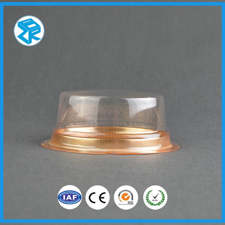 ZBR-C6 round box for cupcake blister cake case transparent container