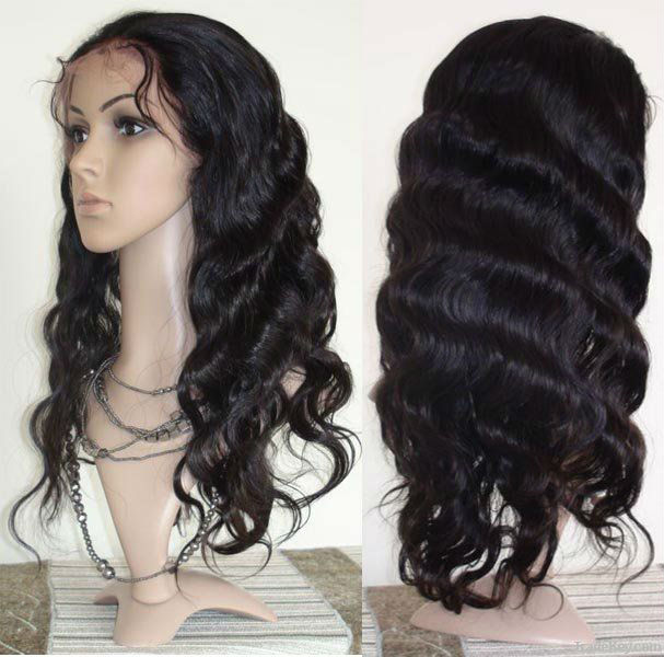 Wholesale virgin brazilian Hair straight cheap human hair full lace wig