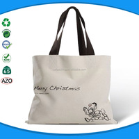 Customized with company logo high quality canvas bag