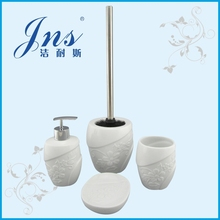 Wholeslae galzed white ceramic bathroom accessories set porcelain