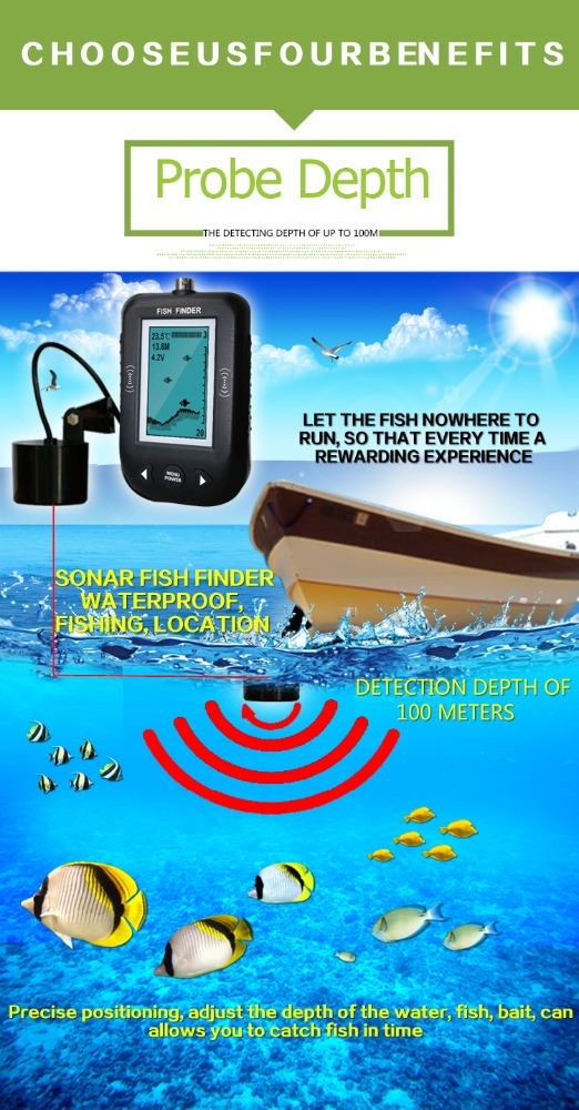 Wholse unique type portable sonar fish finder