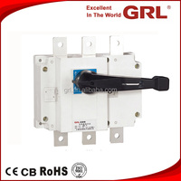 HGL 630A 3 pole load break isolating disconnector switch without fuse CE