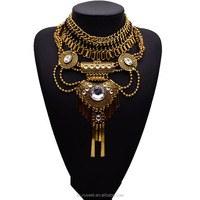 2015 Vintage Gold Chain Chunky Necklace Fashionable Jewelry For Women,Yiwu Jewelry Market(SWTAA2068)