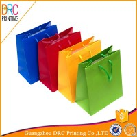 colorful paper bag for shopping and clothes packaging