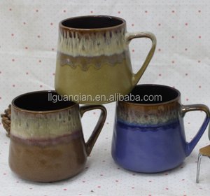 18oz reactive glazed mugs ceramic coffee mugs