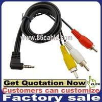 japan 3.5mm stereo to 3 rca female male av xxx hd video game cable
