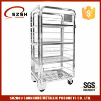best selling salt spray test passed dairy milk transport roll cage trolley