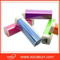 Promotional gift lipstick power bank 2600mah with real capacity