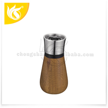 Classical Bamboo Mini Manual Spice Grinder Stainless steel salt & pepper grinder mill