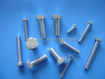 China hex Bolts yellow zinc plated