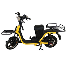 ce approved two wheel front and rear cargo rack for delivery box fast food pizza electric delivery scooter with pedal assisted