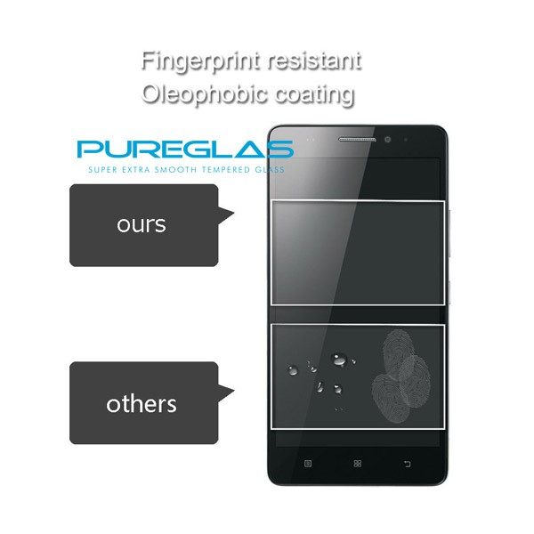 Fingerprint Resistant Mobile Tempered Glass Screen Protectors for Lenovo A6000