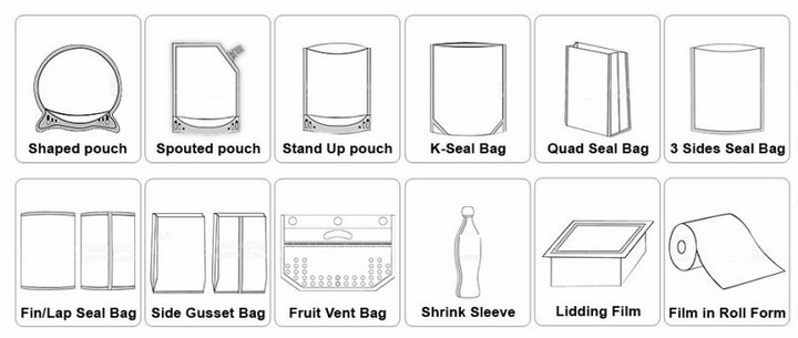 stand up pouch for pine nut aluminum foil kraft food packaging pouch zipper bags doy pack