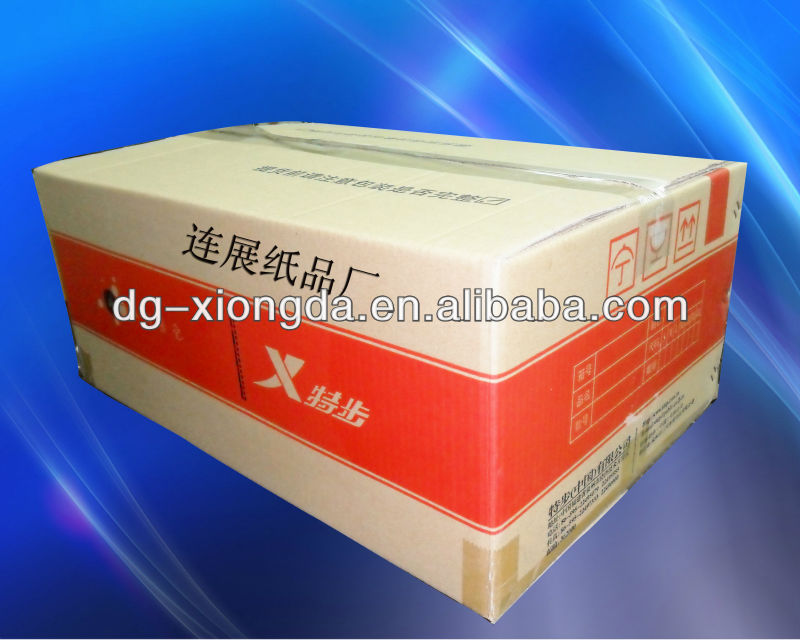 carton for goods package and delivering