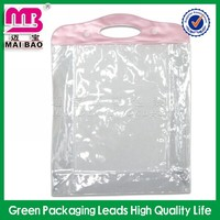 High-capacity zipper top clear plastic makeup pvc bag