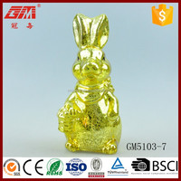 China wholesale lighted glass rabbit crafts figurines for table