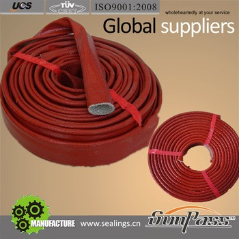 High Temp Resistance Silicon Rubber Coated Cable Silicone fiberglass sleeving