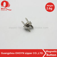 wholesale magnetic snap silver handbag magnetic button