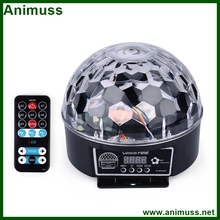 Yard 9 colors Crystal Magic Ball Led Stage Lamp Disco KTV Wedding night club Sound Control Christmas Laser Light Projector