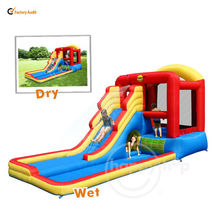 Hot Sales Happyhop Inflatabel Water Slide and Pool with Bouncer-Water Pool Fun for Children-9049N Kids Inflatable Slide