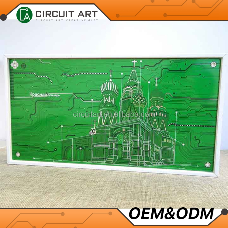 Home Interior Wall Art The Red Square Subject Digital Paintings Circuit Gallery Print Picture