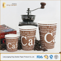 Stock print single wall PE lined disposable coffee paper cups