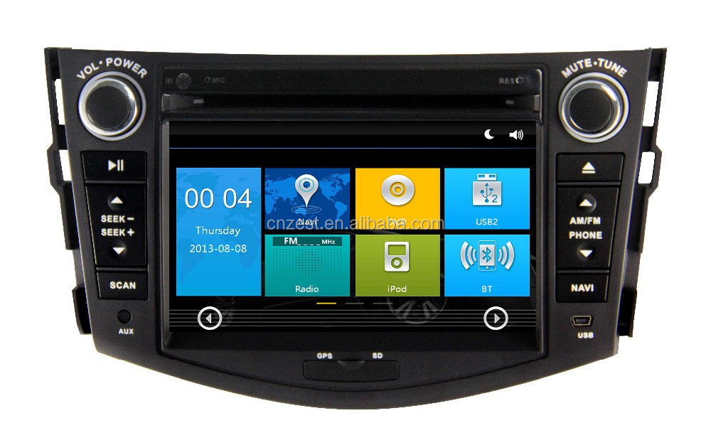 7 inch 2 din in-dash car dvd player for Toyota Rav4 2006 2007 2008 2009 2010 2011 2012 car radio with car audio auto spare parts
