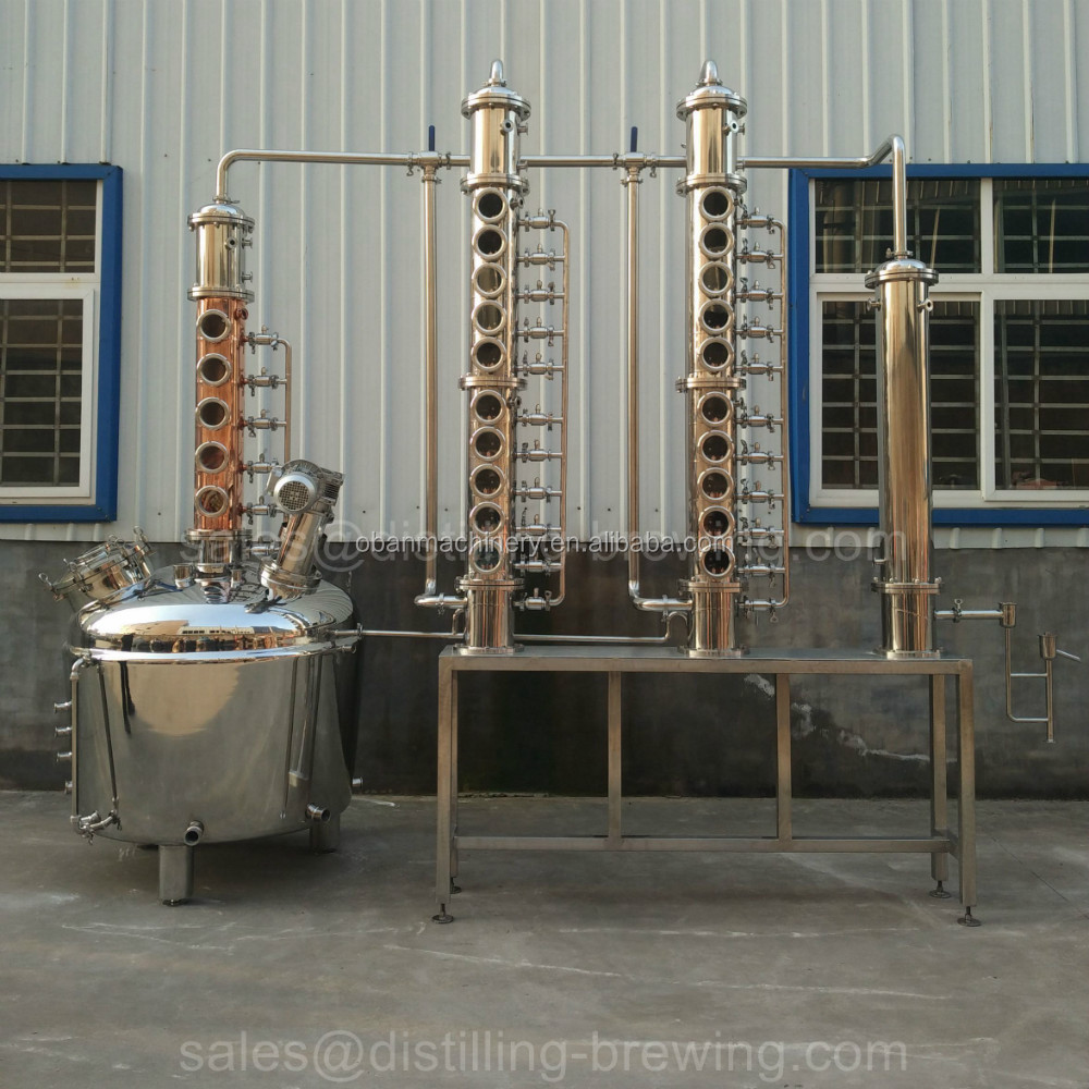 2000L Reflux still equipment vodka distillery distilling system with storage tanks for vodka,whiskey,brandy